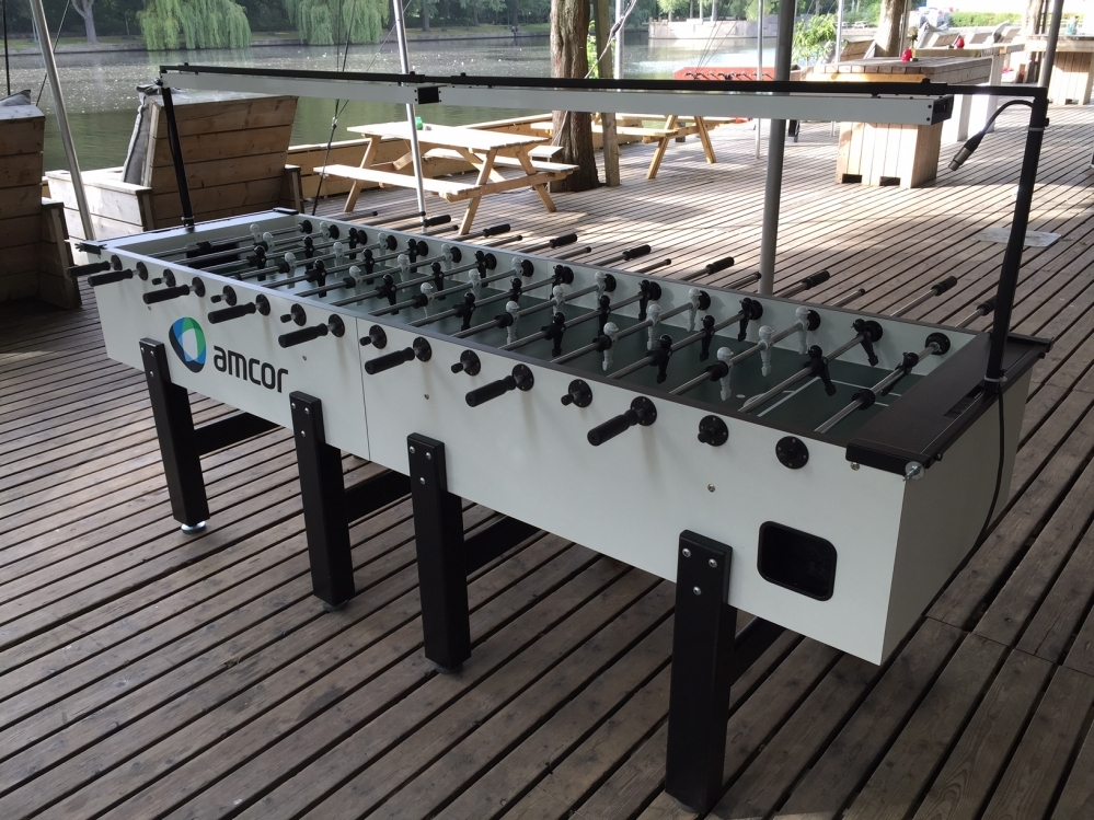 kickertafel XL8 amcor reclame